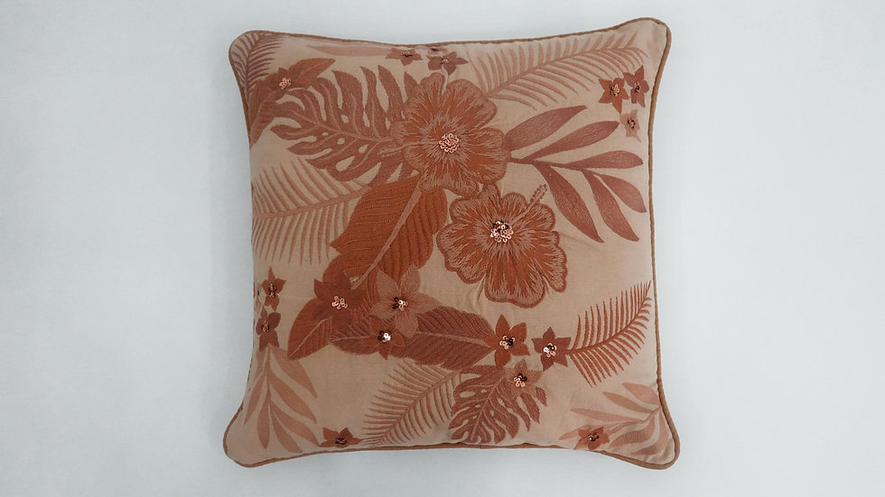 Embroidered Fiona Cushion Cover
