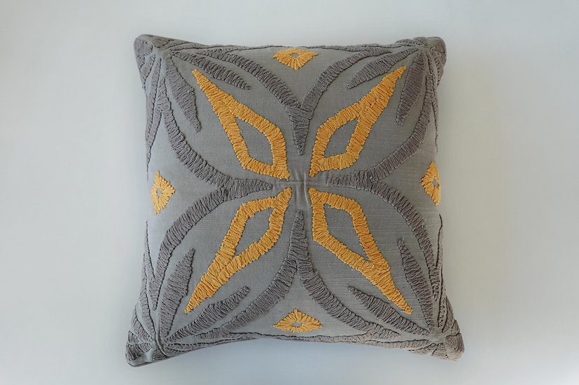 Embroidered Ava Cushion Cover