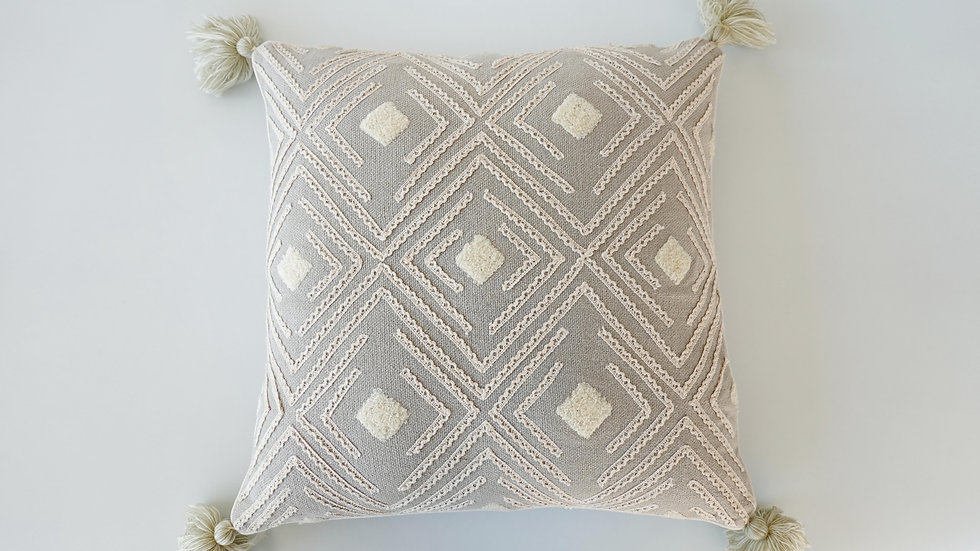 Embroidered Viola Cushion Cover