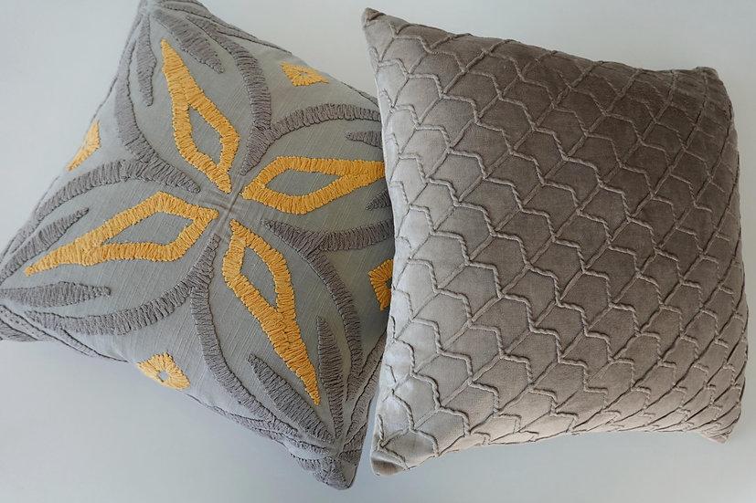 Embroidered Ava & Isla Cushion Covers