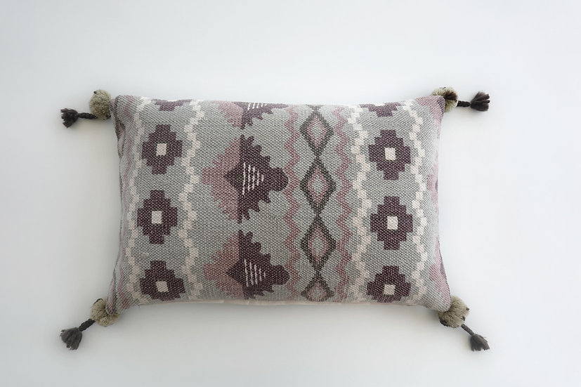 Printed Tabitha Pillow Cover ( with tassels)