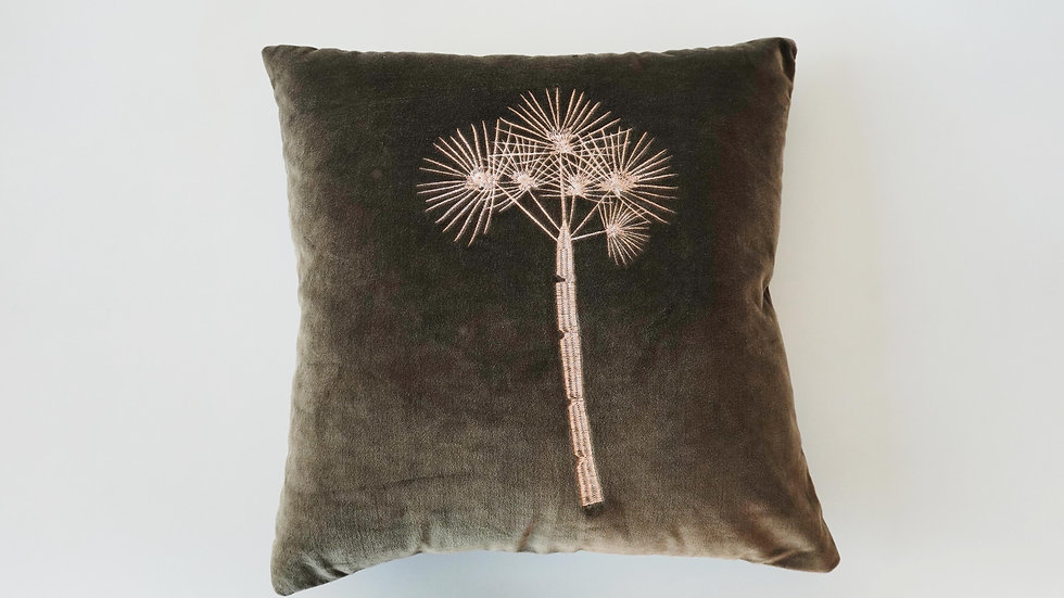Embroidered Sine Cushion Cover