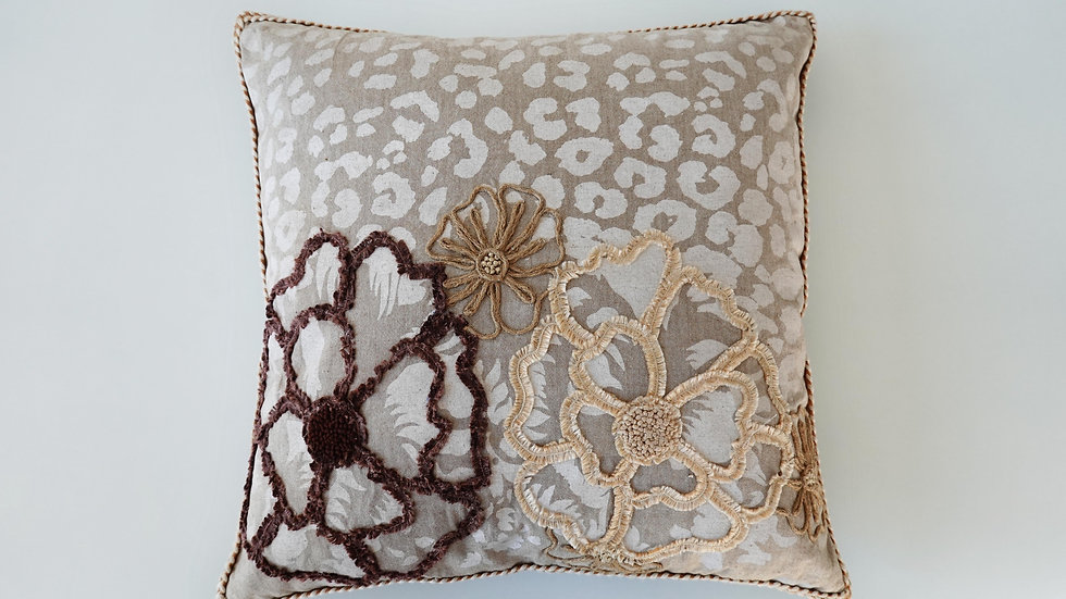 Embroidered Wynn Cushion Cover