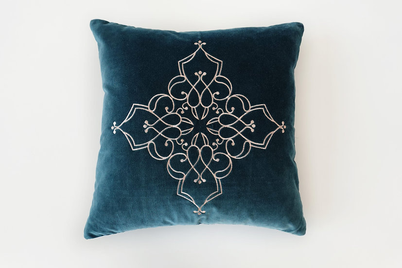 Embroidered Ren Cushion Cover