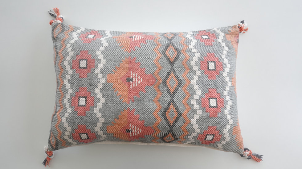 Printed Tabitha Pillow ( with tassels)