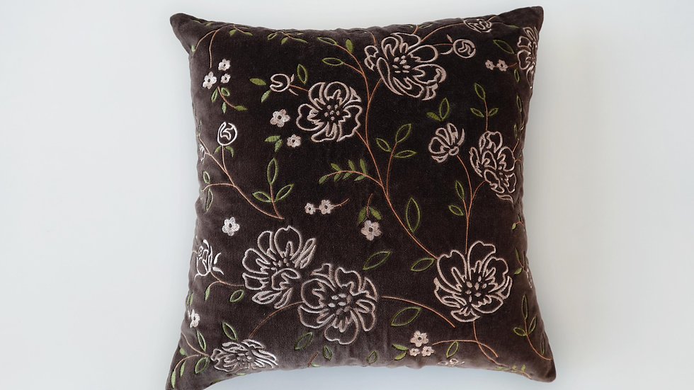 Embroidered Rixton Cushion Cover