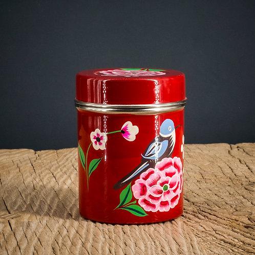 Boîte à thé rouge