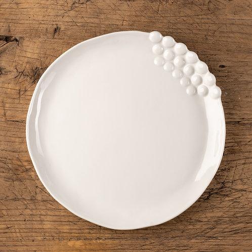 Bertille - Grande assiette - Blanc
