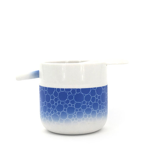 tasse cuillère bleue