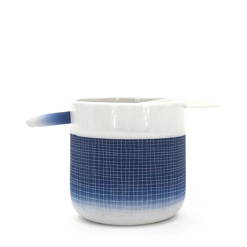 tasse cuillère bleu foncé