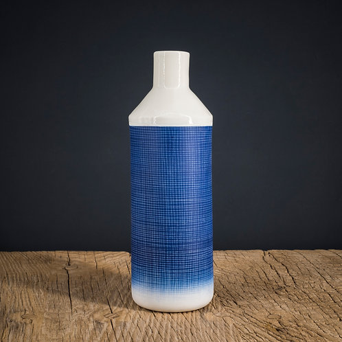 Grande bouteille  bleu foncé 2