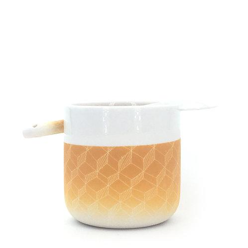 tasse cuillère jaune