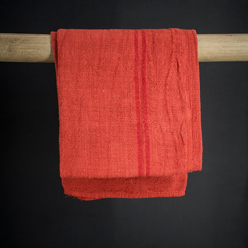 Torchon rouge orangé
