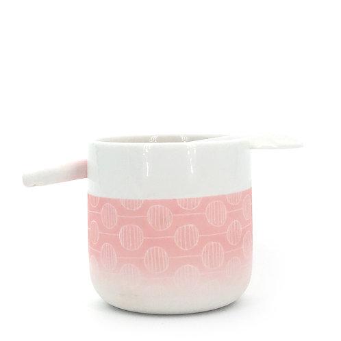 tasse cuillère rose