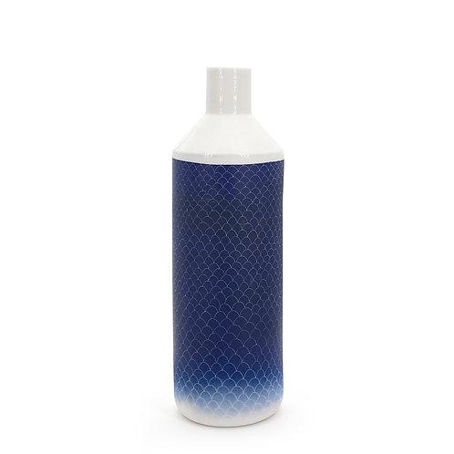 grande bouteille bleu foncé