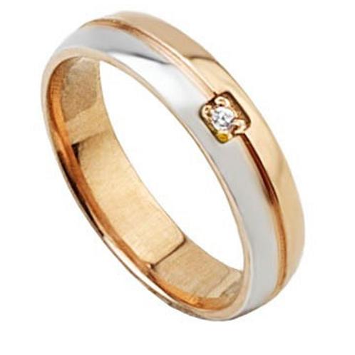 Aliança Prata revestida a ouro rose Gold com zirconias