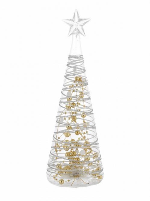 Bibelot Árvore de Natal Bilaminado de Prata