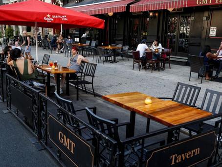 2020年10月起纽约餐厅征收10%新冠附加费,将成本压力转嫁消费者?