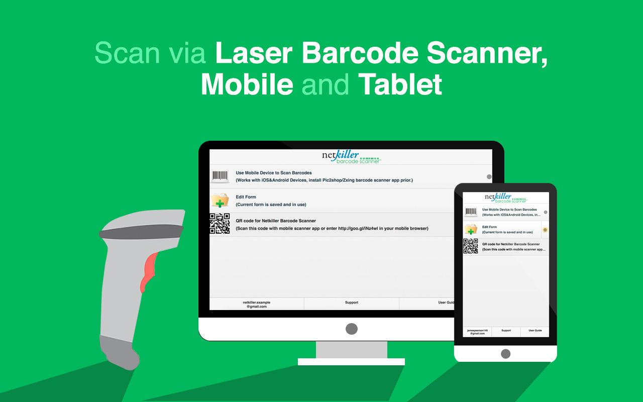 Netkiller Barcode Scanner - Mobile Scanner with Google Sheets