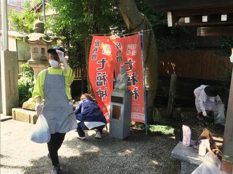母智丘神社清掃ボランティア