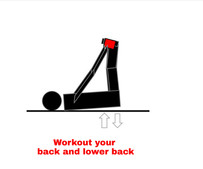 Lower back exercise with Workout Helpers