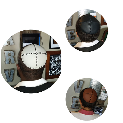 Full Leather Kippah (One size fits all)