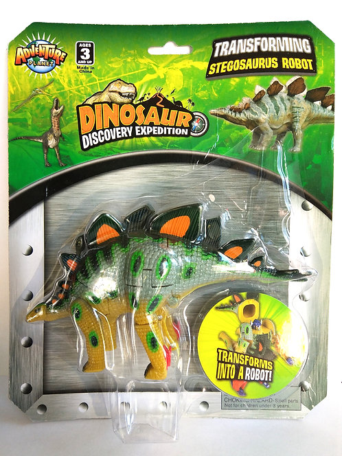 Transforming Stegosaurus Robot