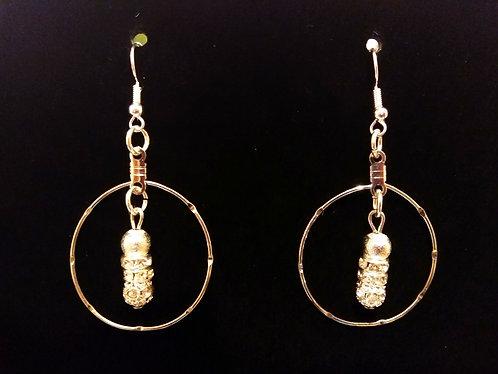 Silver Diamond Earrings by O. Dori