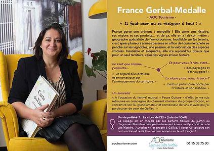 30 GERBAL MEDALLE France (AOC Tourisme)