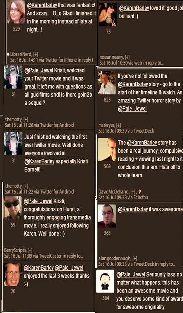 People's reaction (3) - Hurst aka @Karenbarley