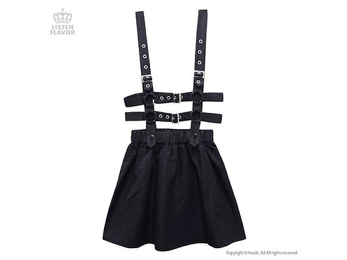 LISTEN FLAVOR Buckle Harness Belt Flared Skirt
