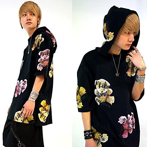 KINGLYMASK Like/Sweet/Funny Bear Hooded T-Shirt