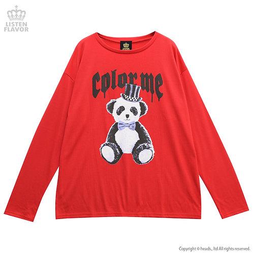 LISTEN FLAVOR TEDDY PANDA Big Long Shirt