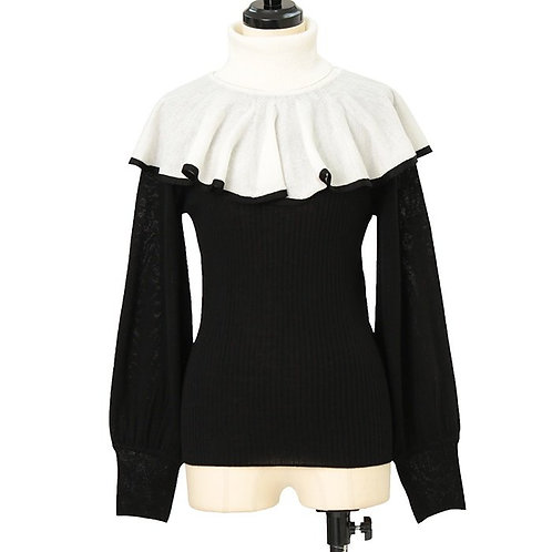 Moi-même-Moitié Nun Cape Collar Knit Top