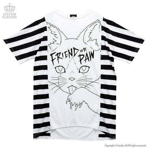 LISTEN FLAVOR BORDER CAT Big T-Shirt