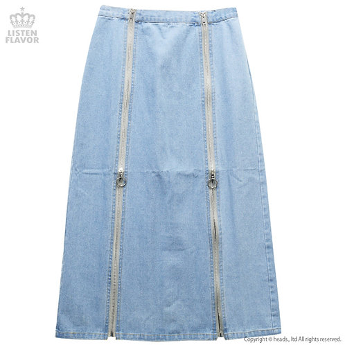 LISTEN FLAVOR Twin Zip Long Skirt