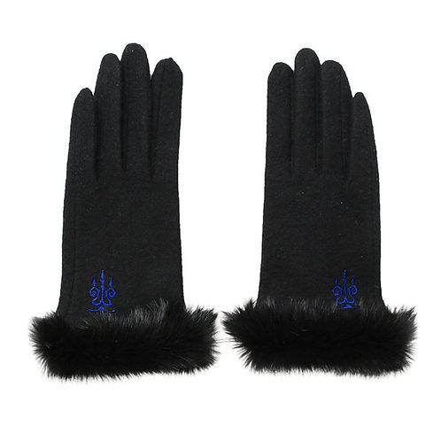 Moi-même-Moitié Logo Embroidery Gloves