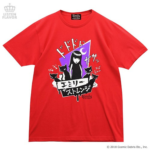 LISTEN FLAVOR x EMILY THE STRANGE Comic T-Shirt