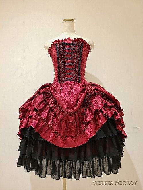 ATELIER PIERROT Corset Dress Rose Jacquard