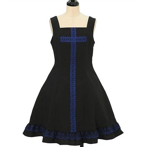 Moi-même-Moitié Lace Cross Jumper Skirt