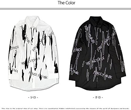 KINGLYMASK Paint Logo Long Shirt