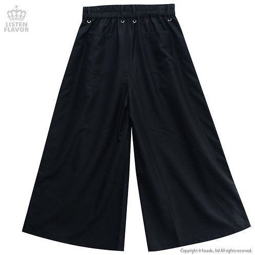 LISTEN FLAVOR Side Lace-up Gaucho Pants