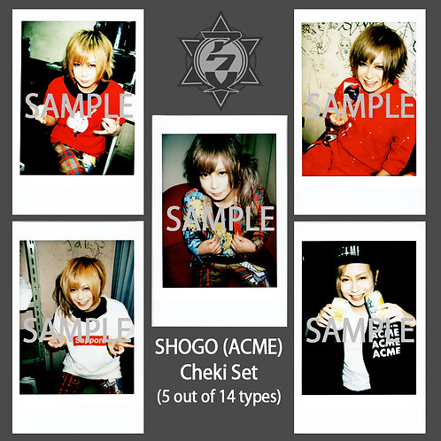 ACME SHOGO Sweet Memories Cheki Random 5-Set