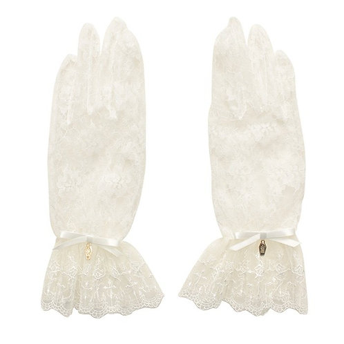 Moi-même-Moitié Lace Gloves with Coffin Charm