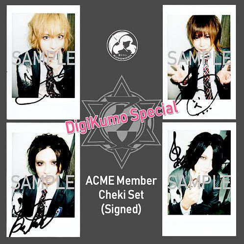 ACME DigiKumo Special Cheki 4-Set (Autographed)