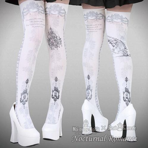 Moi-même-Moitié × Krad Lanrete Nocturnal Romance Overknee Socks