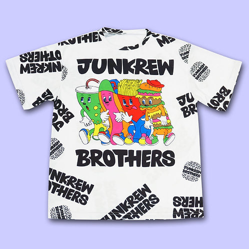 NUEZZZ JUNKREW BROTHERS All Over Print Shirt