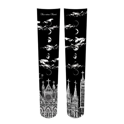 Moi-même-Moitié Silent Moon Overknee Socks