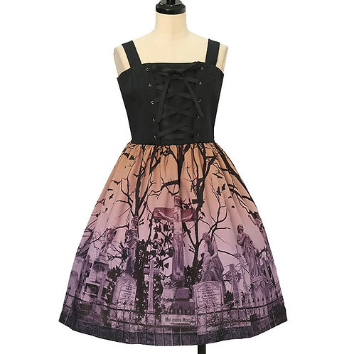 Moi-même-Moitié Sleeping Garden Lace-up Jumper Skirt