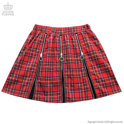 LISTEN FLAVOR Triple Zip Skirt